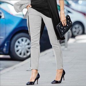 Cabi Windowpane Trouser in Black and White